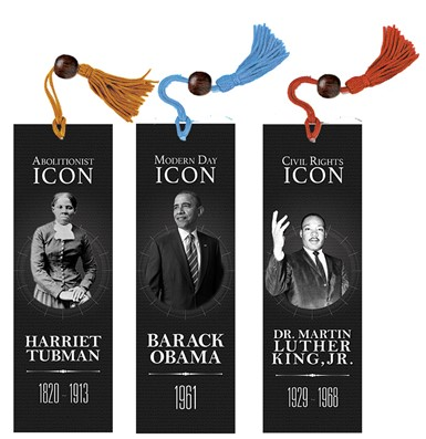 NEW! Bookmark Sets - L (3 Bookmarks from Black History Series)