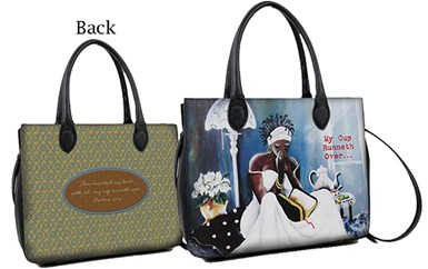 My Cup Runneth Over African American Bible Bag