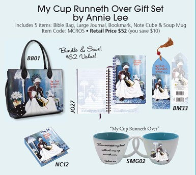 My Cup Runneth Over Black Gift Set by Annie Lee
