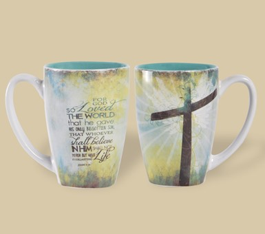 Latte Mug - For God So Loved the World