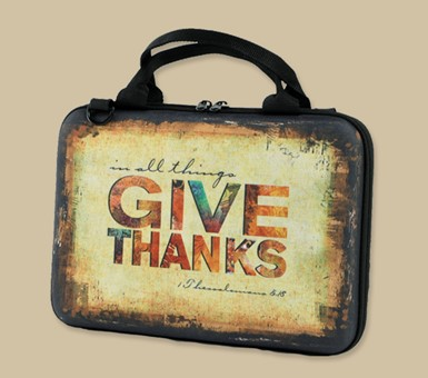 Handy Bible Cover - Give Thanks & Walk by Faith