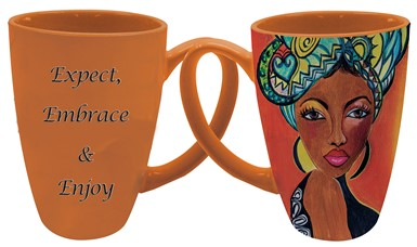 Expect, Embrace & Enjoy Latte Mug