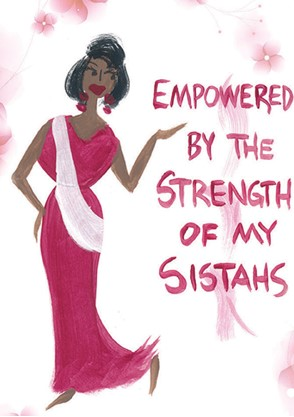 Empowered by the Strength of My Sistahs  Magnet