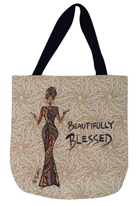 Beautifully Blessed Woven Tote Bag (WTB004)