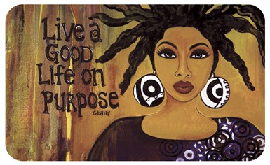 Live A Good Life On Purpose African American Floor Mat