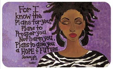 For I Know The Plans African American Floor Mat