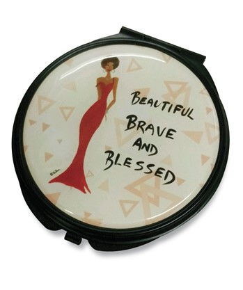 Beautiful Brave and Blessed Pocket Mirror Case