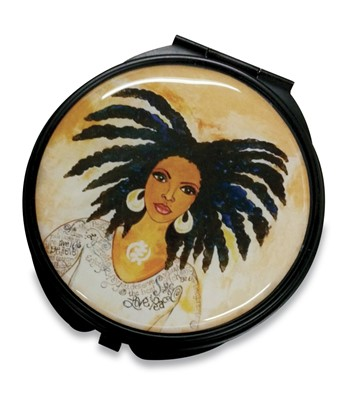 Nubian Queen Pocket Mirror Case