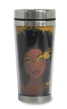 Soul On Fire African American Travel Mug