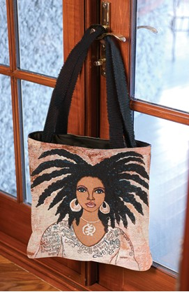 Nubian Queen / Talk To Me Tote African American Bag