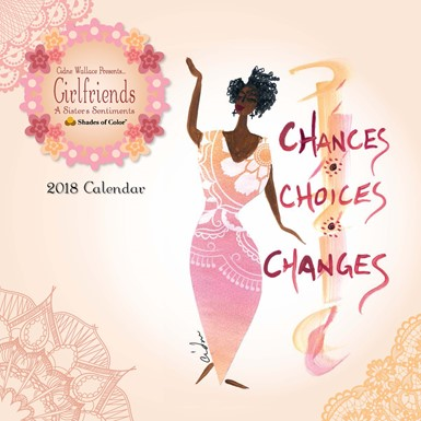 2018 Girlfriends, A Sister's Sentiments African American Calendar (18GF)