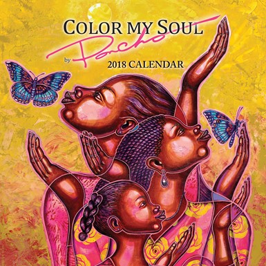 "2018 Color My Soul by ""Poncho"" African American Calendar (18PB)"
