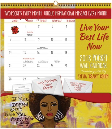 2018 Live Your Best Life Now Pocket Wall Calendar