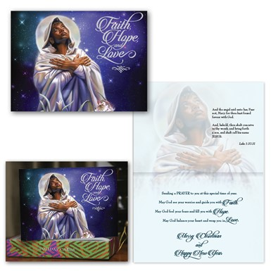 NEW! X17-105 | Faith Hope and Love African American Holiday Cards