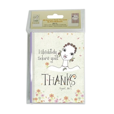 KM  Assorted Thank You Cards by Kiwi McDowll (ABC110)